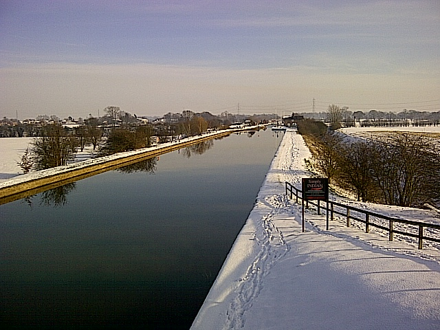 Pollington in the snow